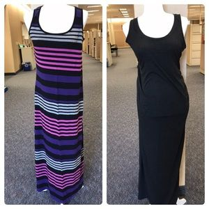 Bundle of 2 maternity sleeveless maxi dresses